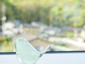 とりちゃんのはしおき  いぐさガラスの画像