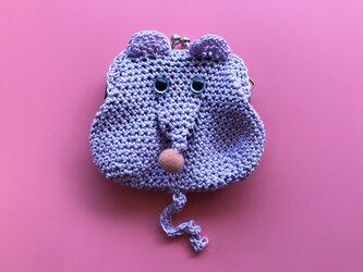 前歯ネズミ/薄紫の画像