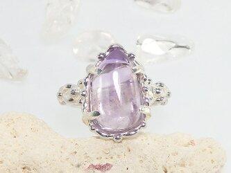 ~淡い紫が可憐~ ベラクルス・アメジストのリング  約10号の画像