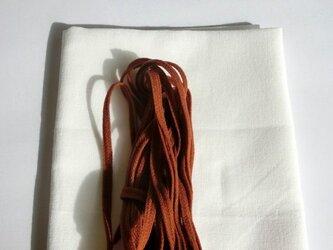 手作りマスク応援キット 茶色241 巾着袋の製作にも 晒生地とウーリースピンテープの画像
