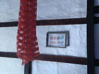 シルク二重ストール 茜の画像