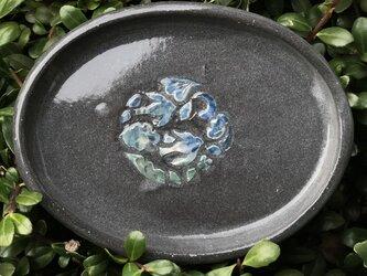 kakiotoshi black 豆皿 - 三日月の夜の画像