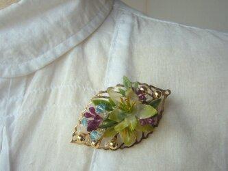 ブプレリウムゴールドブローチの画像