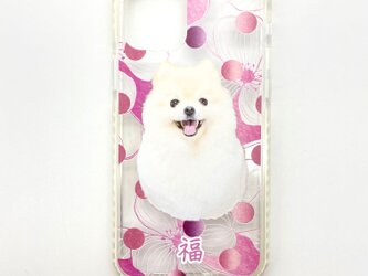 耐衝撃 オーダーメイド うちの子 クッションバンパーケース iphone スマホケース ペット 猫 犬 写真 ペットの画像