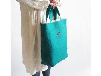 リネン帆布縦型トートバッグの画像