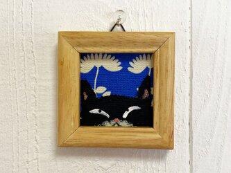 猫の小さなアクリル画【黒猫2】の画像