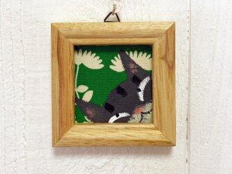 猫の小さなアクリル画【キジ猫】の画像