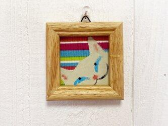 猫の小さなアクリル画【白猫】の画像