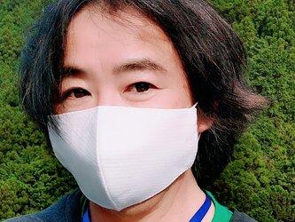【舞台俳優さんの贅沢メンズサイズマスク】息がしやすいコットン100%ドビーチェックと不織布3重フィルター超立体形状記憶の画像