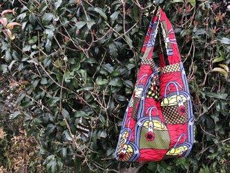b355-アフリカ布ecoバッグの画像