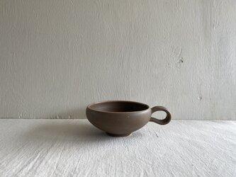 スープマグカップ ブラウンの画像