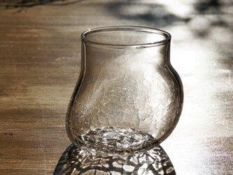 無色透明のグラス - 「 KAZEの肌 」#359・ 高さ9cmの画像