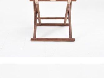 受注生産 職人手作り 折りたたみスツール スツール おしゃれ 北欧モダン 椅子 インテリア チェア 無垢材 家具 天然木の画像