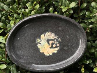 kakiotoshi black 豆皿 - くちばしにチェリーの画像