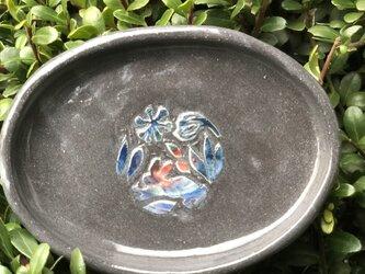 kakiotoshi black 豆皿 - 野ウサギの画像