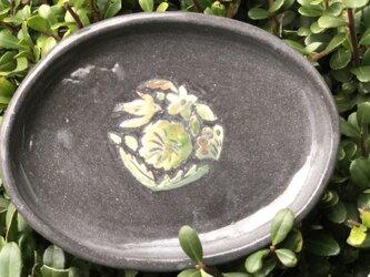 kakiotoshi black 豆皿 - タンポポの画像