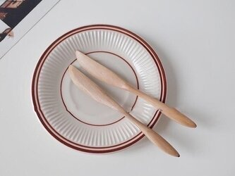 受注生産 職人手作り ナイフ 北欧雑貨 ウッドクラフト 木製 ブナ材 雑貨 木工 エコ 天然木 木目 カトラリー 食卓の画像