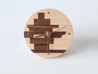 受注生産 職人手作り 置き時計 卓上時計 おしゃれ アッシュ ウォールナット シンプル 木工 木製 木目 無垢材 家具の画像