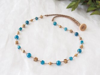 Blue&Earth(○□ necklace)の画像
