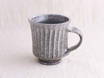 しのぎ手マグカップ(わら灰白系)の画像