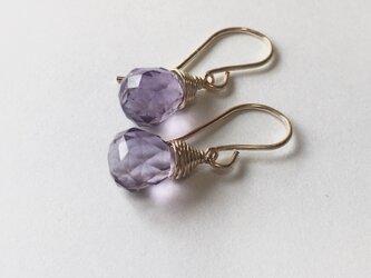 [PE] Amethyst (Light purple) Pierced Earringの画像