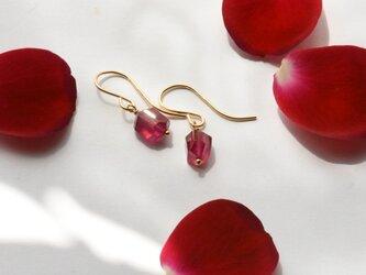 [PE] Ruby Pierced Earringの画像