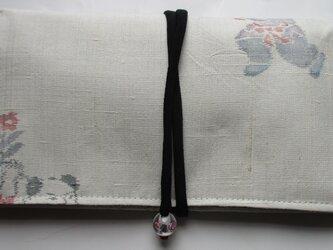 4809 紬で作った和風財布・ポーチ #送料無料の画像