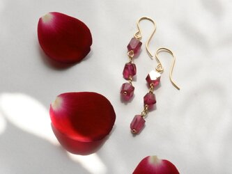 [PE] Ruby long Pierced Earringの画像