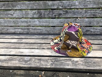 e101-アフリカ布チューリップハット大人用の画像