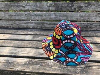 e103-アフリカ布チューリップハット大人用の画像