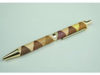 寄木のボールペン・三角チェックの画像