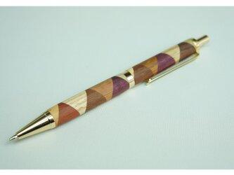寄木のシャープペンシル・三角チェックの画像