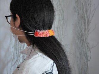 手織り マスクバンド マスク留めの画像