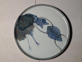 4寸平皿(蛙の仕返し)(10-128)の画像