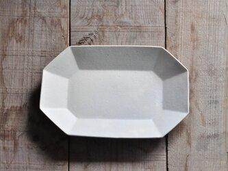 【Yさまご予約】八角長8寸皿/白の画像