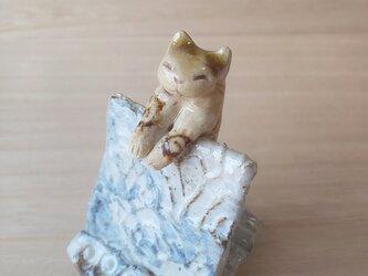 引っかけ猫=^人^=織部猫の画像