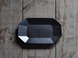 八角長7寸皿/黒の画像