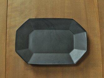 八角長8寸皿/チャコールの画像