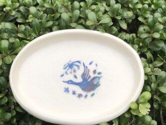 kakiotoshi black 豆皿 - 渡り鳥の画像