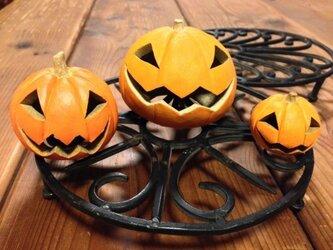 ハロウィンかぼちゃ(中)の画像