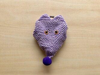 キツネのがま口/薄紫の画像