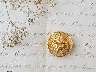 フランス・セミヴィンテージボタンの帯留◎ピオニー【送料無料】の画像