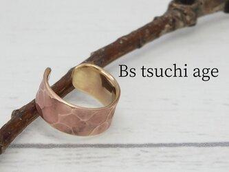 C-BsTchiAgeW6  真鍮ツチメのイヤーカフ 幅6mm <アンティーク加工>の画像