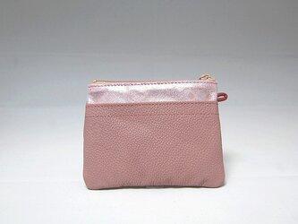 角財布(ピンク)【一点物】の画像