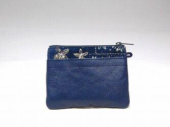 角財布(ネイビー柄物)【一点物】の画像