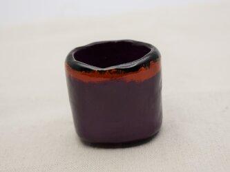 手彫酒器 黒漆朱漆紫漆重ね塗の画像