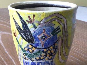 コロナ撃退アマビエ カップ 中に福の字入り 銀髪の画像