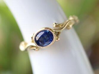 ブルーサファイヤ指輪の画像