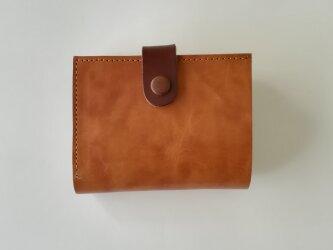内装カラフル二つ折り財布の画像