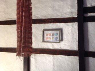 シルク二重スカーフ 藍✖️茜の画像